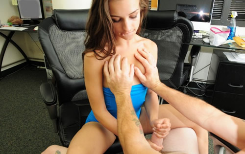 La secretaria adicta al sexo fuerte